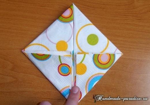Как сложить салфетку в форме пасхального кролика (6)