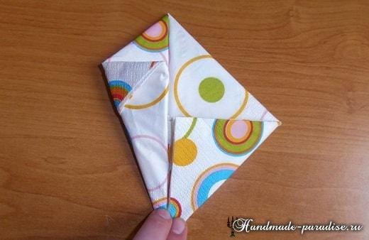Как сложить салфетку в форме пасхального кролика (7)