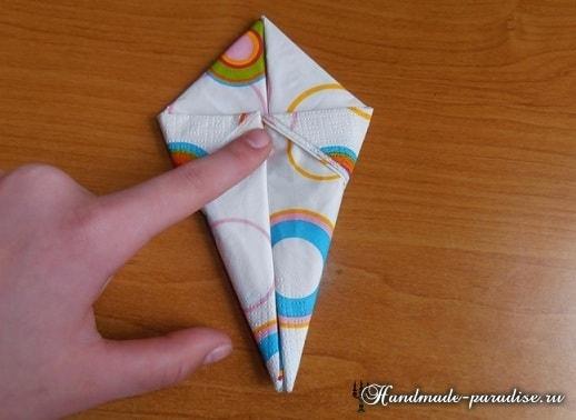 Как сложить салфетку в форме пасхального кролика (8)