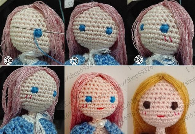 Как вышить глазки куколке амигуруми (3)