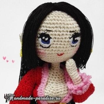 Как вышить глазки куколке амигуруми (4)