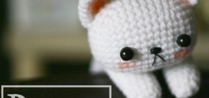 Котенок амигуруми. Игрушка крючком