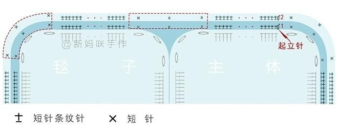 Красивый узор для вязания подушки и пледа (9)