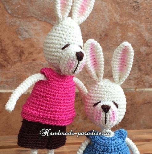 Кролики с характером. Вязание игрушек амигуруми