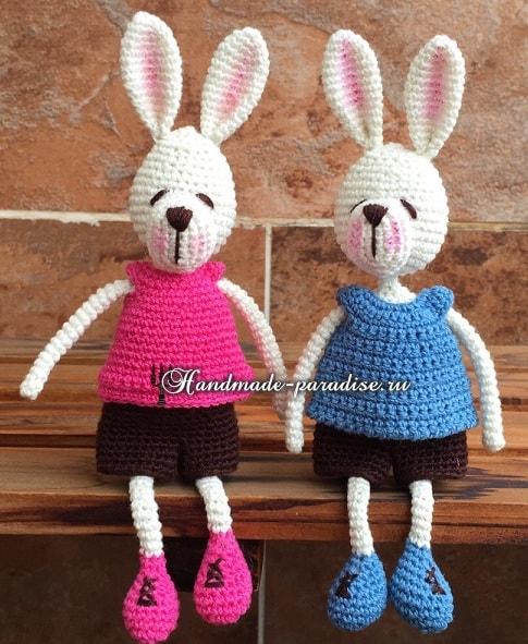 Кролики с характером. Вязание амигуруми (2)