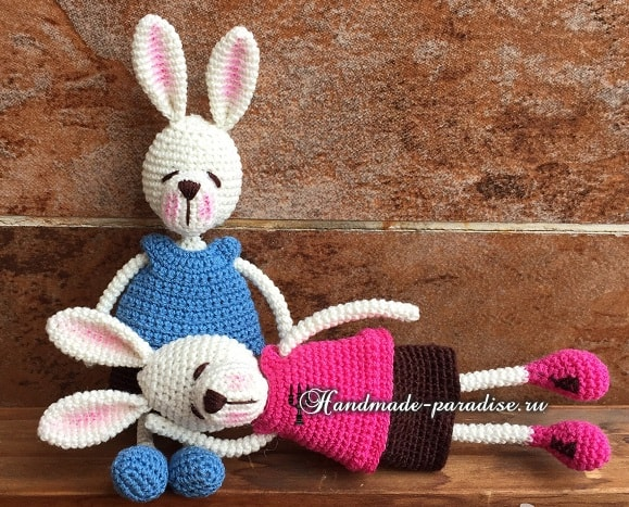 Кролики с характером. Вязание амигуруми (3)
