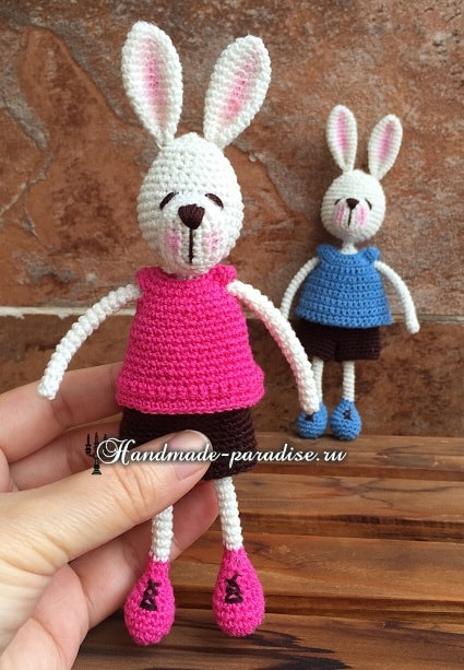 Кролики с характером. Вязание игрушек амигуруми (4)