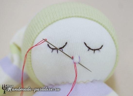 Куколка сплюшка из носков (2)