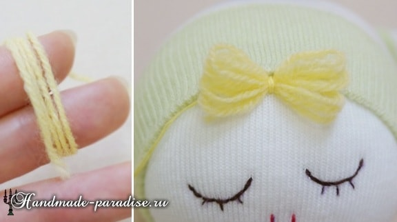 Куколка сплюшка из носков (3)