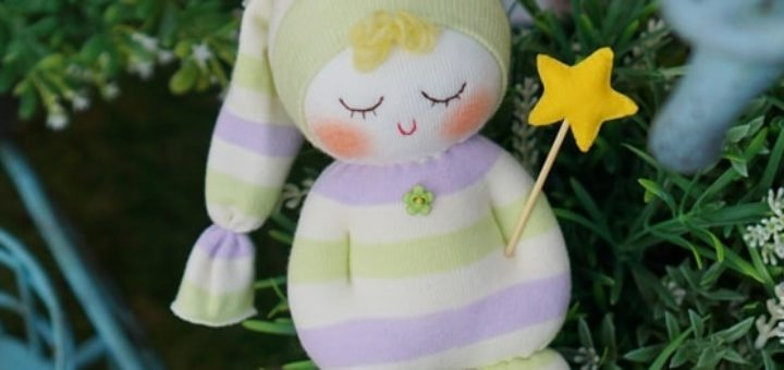 Куколка сплюшка из носков