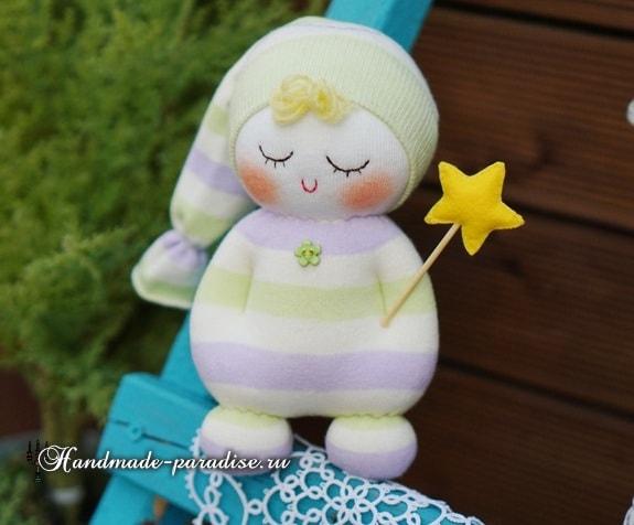 Куколка сплюшка из носков (8)