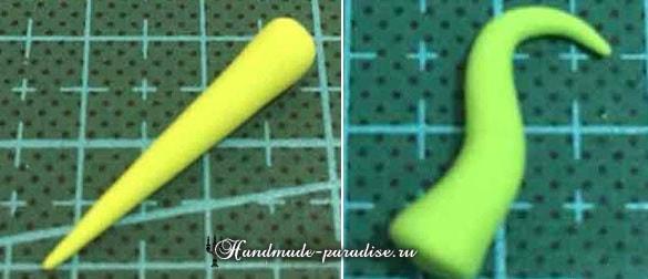 Лепка ГУСЕНИЦЫ из полимерной глины (4)