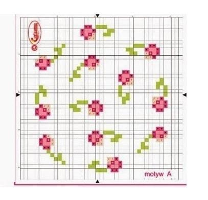 Пасхальные яйца с розами. Схемы вышивки (2)