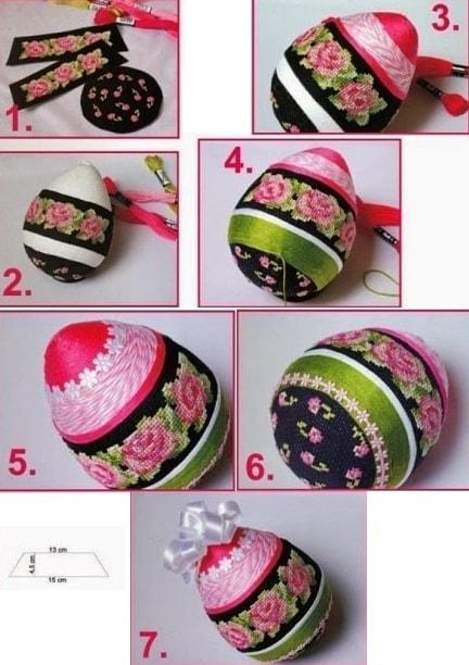 Пасхальные яйца с розами. Схемы вышивки (3)