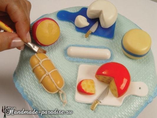 Сыроделие из холодного фарфора для украшения кухни (12)