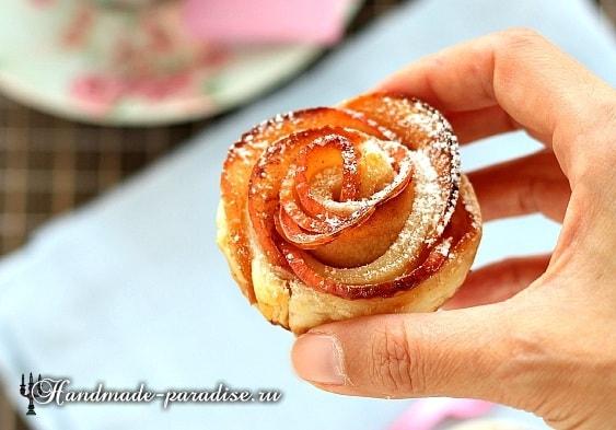 Яблочные розы из слоеного теста (3)