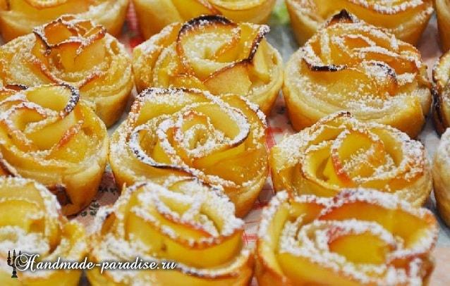 Яблочные розы из слоеного теста (5)