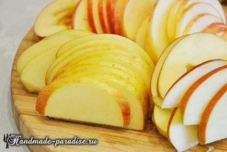 Яблочные розы из слоеного теста (6)