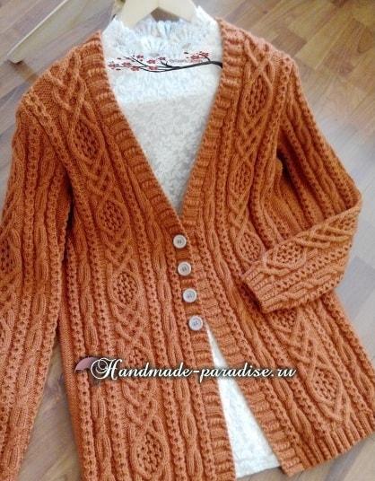 Арановый жакет спицами. Схемы вязания (2)