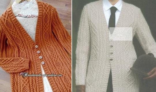 Арановый жакет спицами. Схемы вязания (3)