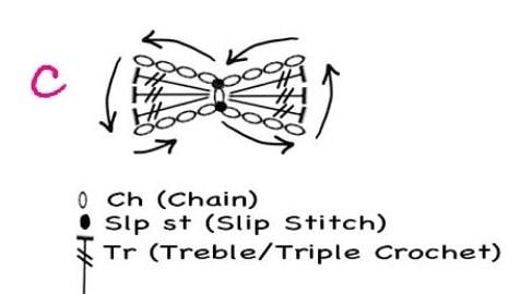 Бантики крючком для куколок амигуруми (10)