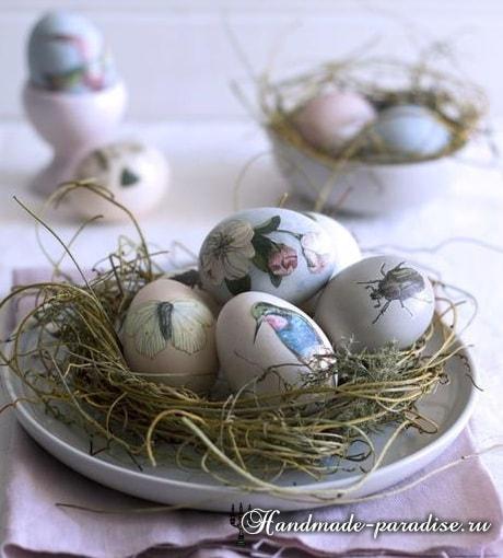 Декупаж пасхальных яиц своими руками (12)