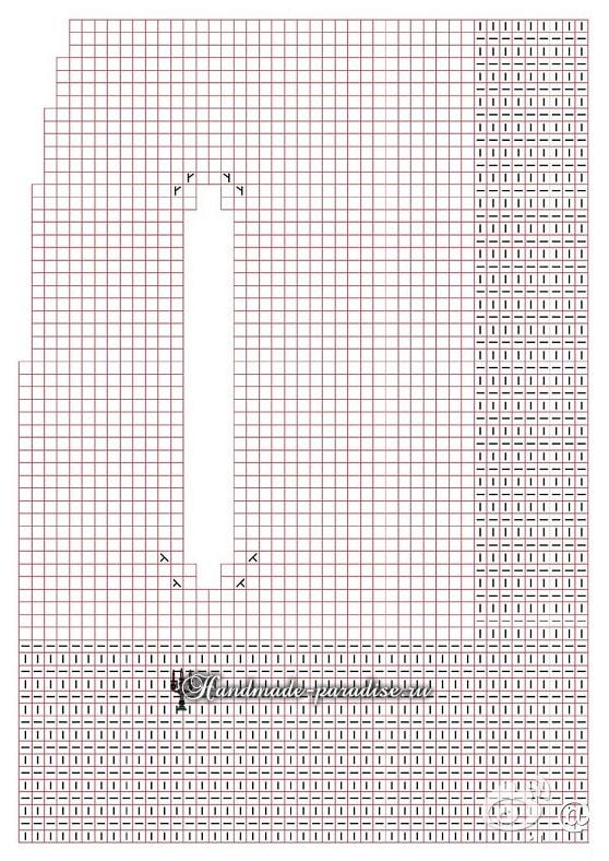 Детский кейп спицами. Схема (4)