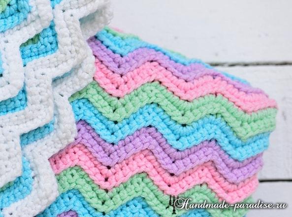 钩针:波浪式儿童毯 - maomao - 我随心动