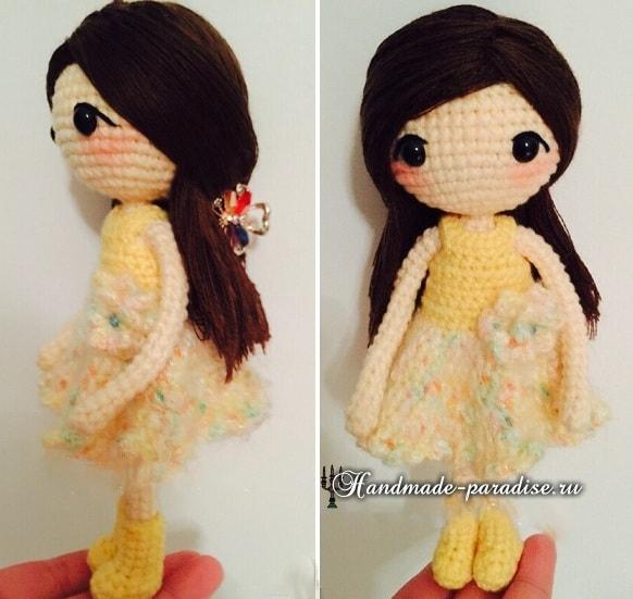 Как сделать волосы куколке амигуруми (2)