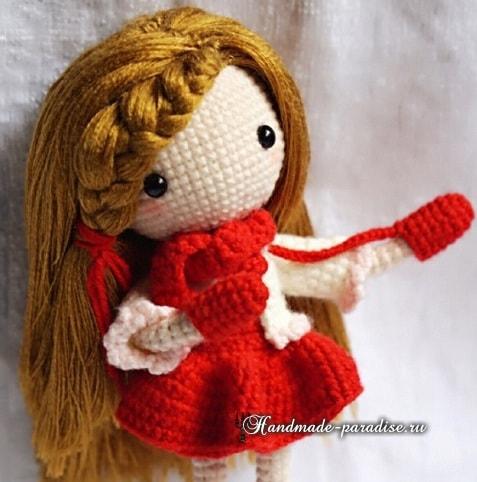 Как сделать волосы куколке амигуруми (4)