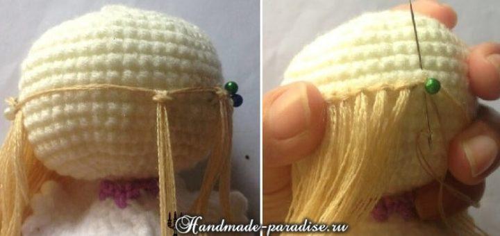 Как сделать волосы для куклы амигуруми из ниток 2