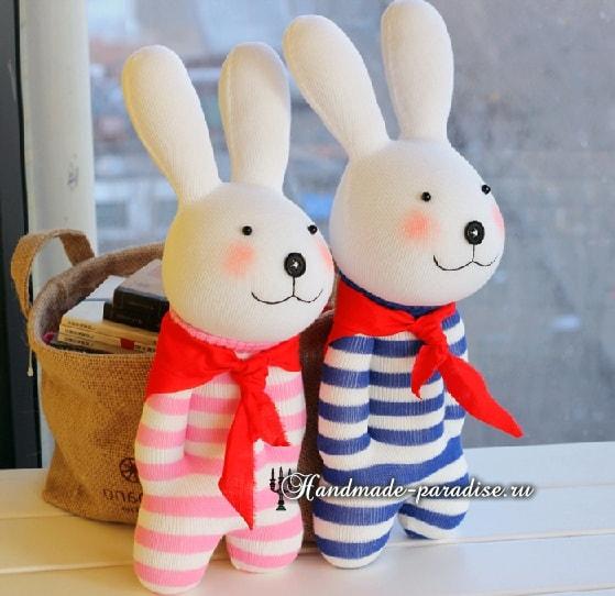 Как сшить кролика из носков (10)