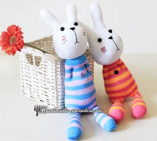 Как сшить кролика из носков (12)