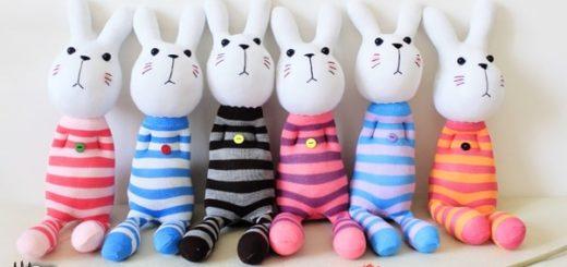 Как сшить кролика из носков
