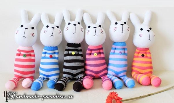Как сшить кролика из носков (14)
