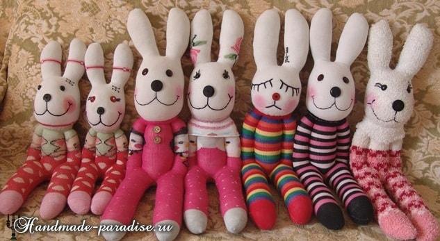 Как сшить кролика из носков (2)