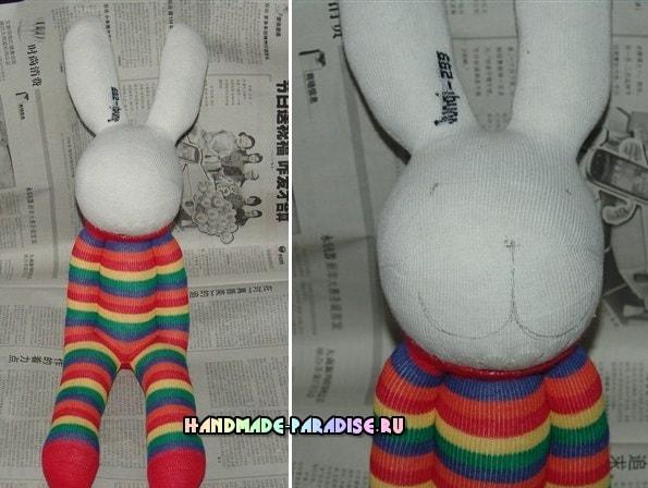 Как сшить кролика из носков (8)