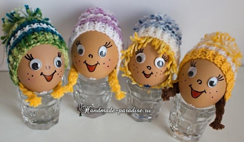 Как связать шапочку для яйца (2)