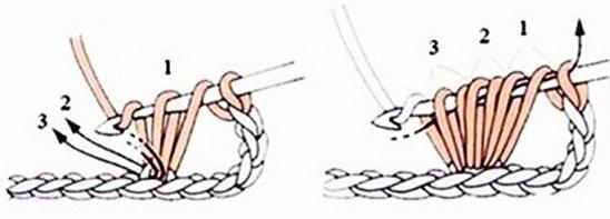 Колосок - узор для вязания детского пледа (3)