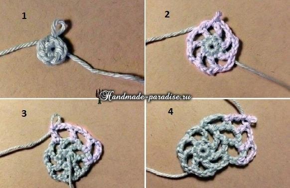 Корзинка из веревки с обвязкой крючком (13)