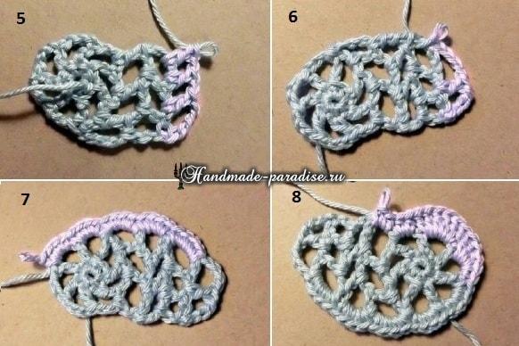 Корзинка из веревки с обвязкой крючком (14)