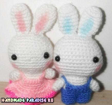 Кролик в пасхальном яйце амигуруми (4)
