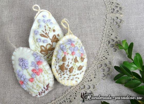 Кролики - пасхальные украшения из фетра (11)