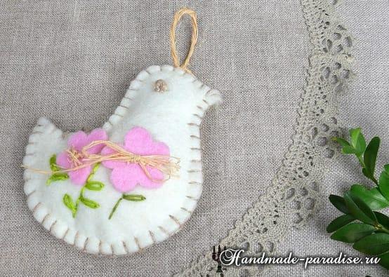 Кролики - пасхальные украшения из фетра (9)
