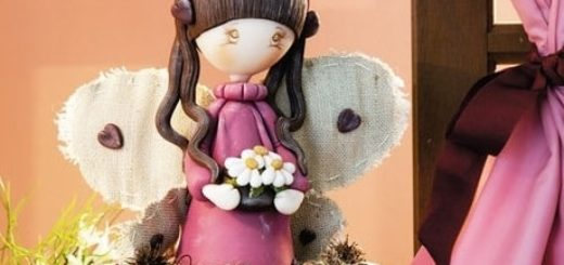 Лепка куколки ангела из полимерной глины