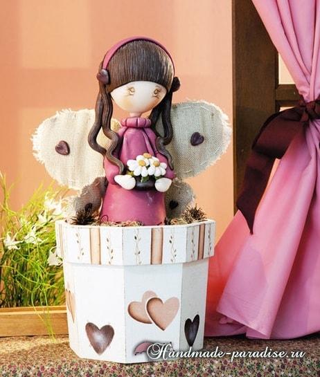 Лепка куколки ангела из полимерной глины (2)
