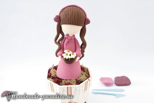 Лепка куколки ангела из полимерной глины (8)