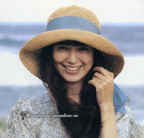 Летняя шляпа с большими полями крючком (2)