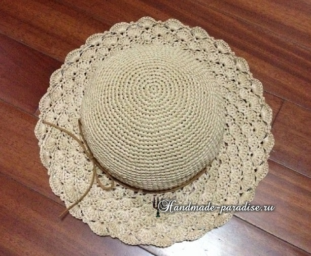 Летняя шляпа крючком. Схема (3)