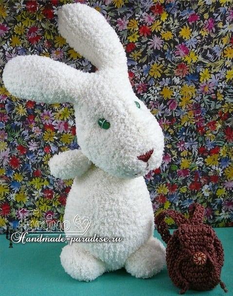 Пасхальные кролики из махровых носков (2)